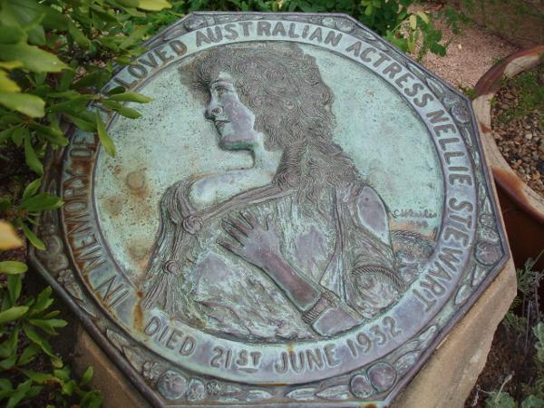 Fig. 9 Nellie Stewart's Memorial Plaque, Royal Botanical Gardens, Sydney